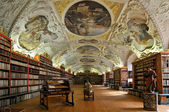 Historical library of Strahov Monastery in Prague, Theological Hall — Stock Photo
