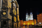Night time illuminations of the the Old Town Hall. — Stock Photo