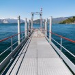 Lake Maggiore, boat pier of Laveno, Italy — Stock Photo #46498179