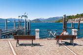 Lago maggiore, laveno, italia — Foto de Stock