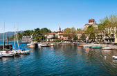 Laveno, Italy. Panoramic view — Stock Photo