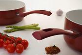 Two Burgundy saucepan. — Stock Photo