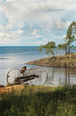 On the shores of lake Ladoga. — Stock Photo