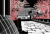 Kioto — Wektor stockowy