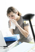 WOMAN  WITH RHINITIS — Foto Stock