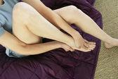Žena bolesti nohou — Stock fotografie