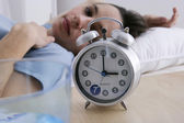 WOMAN WITH INSOMNIA — Stock Photo