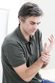 PAINFUL WRIST IN A MAN — Stock Photo