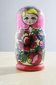 RUSSIAN NESTED DOLLS — Stock Photo