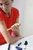 TREATING DIABETES IN A WOMAN — Stock Photo