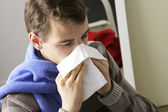MAN WITH RHINITIS — Stock Photo
