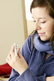 WOMAN WITH FEVER — Stock Photo