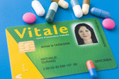 French electronic social security card — Stock Photo