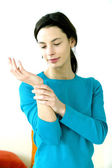 PAINFUL WRIST IN A WOMAN — Stock Photo