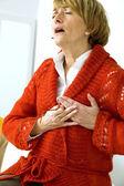 Angina pectoris, pessoa idosa — Fotografia Stock