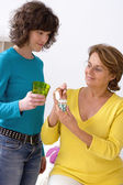 SOCIAL AID FOR ELDERLY PERSON — Stockfoto