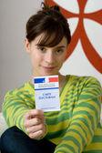 VOTER REGISTRATION CARD — Stock Photo