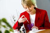 ELDERLY PERSON TAKING MEDICATION — Stock Photo