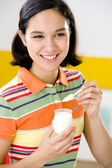 ADOLESCENT, DAIRY PRODUCT — Stock Photo
