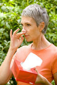 ELDERLY PERSON WITH RHINITIS — Stock Photo