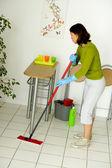 WOMAN DOING HOUSEWORK — Stock Photo