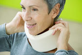 SUPPORTIVE COLLAR — Stock Photo
