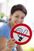 некурящих, символ — Стоковое фото