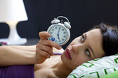 WOMAN WITH INSOMNIA — Foto de Stock