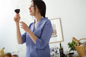 WOMAN DRINKING — Stock Photo