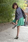 Kobieta ból stopy — Zdjęcie stockowe