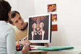 Uomo di consultazione di Angiologia — Foto Stock