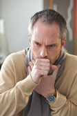 MAN COUGHING — Stock Photo