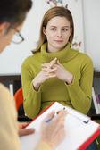 PSYCHOTHERAPY  woman — Stock Photo