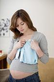 Unavený těhotná žena — Stock fotografie