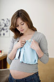 WEARY PREGNANT WOMAN — Stockfoto