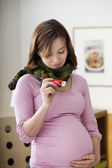 PREGNANT WOMAN WITH FEVER — Stock Photo