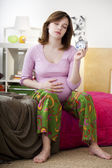 PREGNANT WOMAN WITH INSOMNIA — Stockfoto