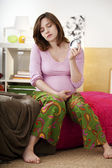 PREGNANT WOMAN WITH INSOMNIA — Stock Photo