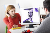 ORTHOPEDICS CONSULTATION WOMAN — Stock Photo