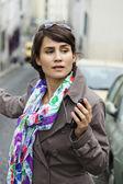 WOMAN ON THE PHONE — Stockfoto