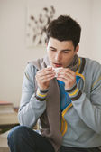 ADOLESCENT  WITH RHINITIS — Stockfoto