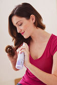 WOMAN'S HAIRCARE — Stock Photo