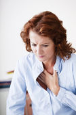 ANGINA PECTORIS WOMAN — Foto Stock