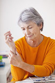 PAINFUL WRIST IN AN ELDERLY P. — Stock Photo
