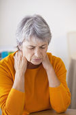 CERVICALGIA IN AN ELDERLY PERSON — Stock Photo
