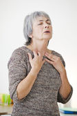 BREATHLESSNESS female — Stock Photo
