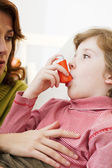 ASTHMA TREATMENT, CHILD — Stock Photo