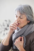 ELDERLY PERSON COUGHING — Stock Photo