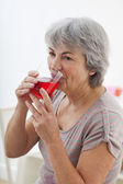 ELDERLY PERSON EATING — Stock Photo