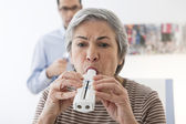 BREATHING, SPIROMETRY ELDERLY P. — Photo